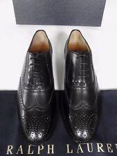 Ralph Lauren Ladies Black Leather Brogue Lace-ups Shoes UK 3 EU 36 US 5