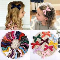 Velvet Hair Bow Alligator Hair Clips Barrettes Accessories for Baby Girls Kids