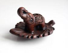 Handmade Terracotta Elephant Brown Incense Burner