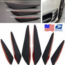 US Shipping 6Pcs Car Carbon Fiber Style Front Bumper Lip Splitter Body Spoiler