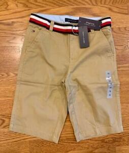 Tommy Hilfiger Youth Boys School Uniform Chino Shorts w Belt Pick Sz/Color {&}