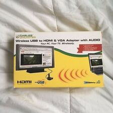 wireless USB to HDMI & VGA adapter with audio - cables unlimited new in box