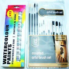 Peintures eau artistes couleurs set hobbies crafts kit de matériel photos monde de l'art