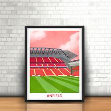 Anfield Liverpool FC Inspired Football Art Print Stadium Design The Reds