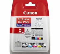 5 Canon PGI-570XL/CLI-571 Multipack –PGBK CMYK  MG5750 MG5751 MG5752 MG5753