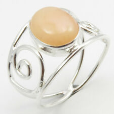 Bijoux 925 Solid Silver Pink Opal Ring # 7