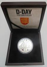 Jersey 2014 D-Day Anniversary Cased Coin Silver Proof With COA