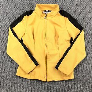 Kill Bill Beatrix Michelle Kiddo Cosplay Costume Yellow Full Zip Jacket Medium
