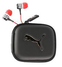 NEW PUMA ROADIES ATHLETIC SPORT HEADPHONES EARPHONE EARBUDS RED PLAID PMAM3034