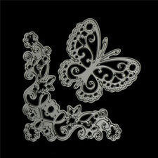 Butterfly in flower Metal Cutting Dies Stencil for Scrapbook Album Paper CardCS