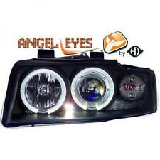 LHD Projector Headlights Pair Angel Eyes Clear Black For Audi A4 Avant 8E 00-04