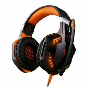 Stereo Gaming Headphones Best Casque Deep Bass Game Earphone With Mic Led Light