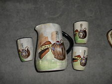 Royal Sealy Japan Capri Wine Set Pitcher And 3 Cups
