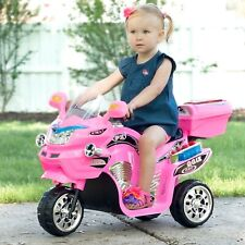 Toddler Ride On Motorcycle Battery Powered Trike Outdoor Girls Pink Power Bike