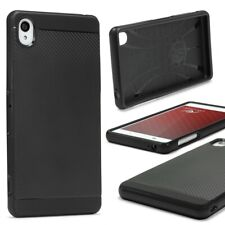 Sony XPERIA z3 Compact Case Carbon Style Case Cover Dual Layer TPU PC