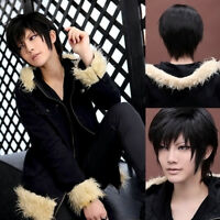 YURI!!! on ICE Phichit Chulanont Cosplay Wig Men Harajuku Black Short Hai D G2N0