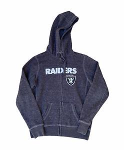NFL Team Apparel Women's LAS VEGAS RAIDERS Oakland Grey Hoodie Jacket   M