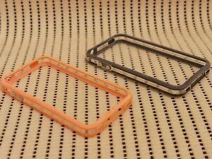iPhone 4 Orange & Black Bumper Phone Cover Case