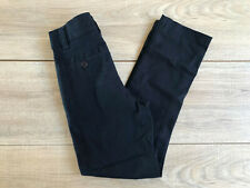 "3 U.S. Polo Assn. Boys School Uniform Skinny Pants Size 6 21""X20"" Navy Adj Waist"