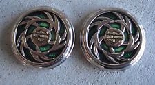 Lot of 2 Franklin Mint Harley Davidson Cycles Pocket Watch Sample Lid Covers #3