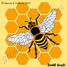BEE STENCIL HONEYCOMB WINGS WING STENCILS TEMPLATE TEMPLATES PATTERN CRAFT NEW