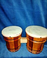 Vintage Antique Aztec Performance BONGOS Bongo Spanish Mexican African Drums 😏