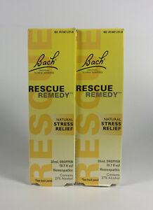 2 Bach Rescue Remedy Dropper, Natural Stress Relief 20 mL, 0.7 fl ozEXP:05/2024