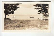 Real Photo Postcard looking toward Camel Back & Beach  Sebago Lake  ME
