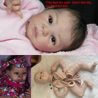 Unpainted 22in Reborn Doll Kits DIY Vinyl Head + Full Limbs + Cloth Body + Eyes