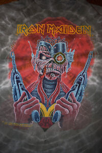 IRON MAIDEN Tie Dye SOMEWHERE IN TIME t-shirt 1987 Vintage REAL Tour