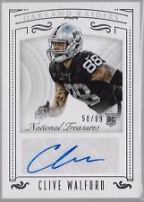 2015 National Treasures Clive Walford Auto Rc /99 Raiders from Miami Hurricanes