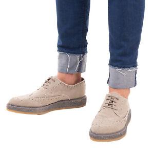 RRP €125 DIESEL Canvas Espadrille Derby Shoes EU 43 UK 9 US 10 Worn Look Lace Up