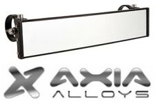 """Axia Alloys 12"""" Wide Panoramic Rear View Mirror w/ 1.75"""" Cage Mount Bright Black"""