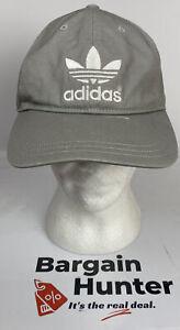 Adidas Grey Baseball Cap / Hat In Good Condition Adjustable Sizing