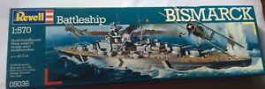 Revell Bismarck Plastic Model Kit. 1:570 Unopened