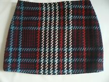 Marks & Spencer Check Mini Skirt Wool Blend UK Size 22 NEW TAGS