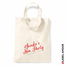 Personalised Name Date Favour Hen Do Party Gift Canvas Tote Bag | 3 Sizes Red 355 X 400mm