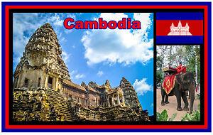 Cambodge - Souvenir Nouveauté Réfrigérateur Aimant - Tout Neuf - Cadeau