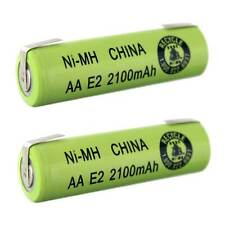 2pc AA Size 2100mAh NiMH 1.2V Rechargeable Batteries  w/ Tabs FAST USA SHIP