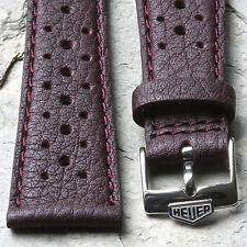 Heuer Silverstone 22mm bordeaux vintage rally strap NOS with Heuer buckle 3 sold