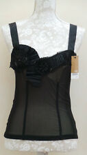 NEXT BLACK SHEER LINED Special Occasion EVE Party TOP UK 6 8 Petite 36 BNWT £25
