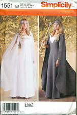 SIMPLICITY SEWING PATTERN 1551 SZ 16-24 MEDIEVAL FANTASY COSTUME LOTR, GALDRIEL