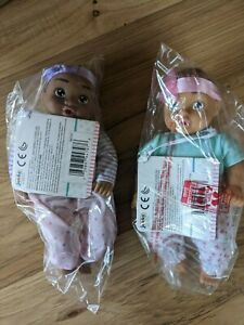 """Set Of 2 Perfectly Cute My Lil' Baby 8"""" Baby Dolls"""