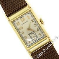 Vintage 14K Yellow Gold American Hamilton GILMAN Mechanical 982M 19j Wrist Watch