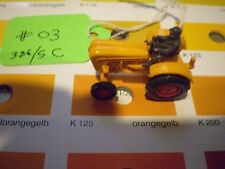 #03 Wiking Porsche Diesel Tractor 386/5 C yellow orange Schlepper