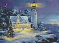 CHRISTMAS AT LIGHTHOUSE  POINT - COUNTED CROSS STITCH CHART