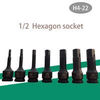 "1X 1/2"" Impact Int HEX Bit Socket Set 4 5 6 7 8 10 11 12 13 14 15 17 18 19 22mm"