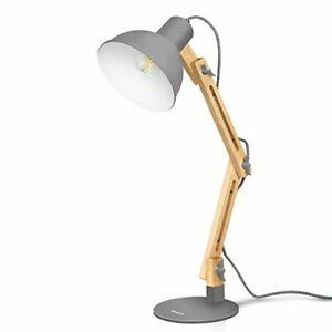 Swing Arm LED Desk Lamp, Wood Table Lamp, Reading Light, 4W LED BULB, Solid Wood