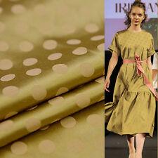 Golden polka dot jacquard silk cotton satin blended fabric 20momme,SCT259