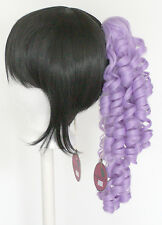 18'' Ringlet Curly Pony Tail Clip Lavender Purple Cosplay Lolita Wig Clip NEW